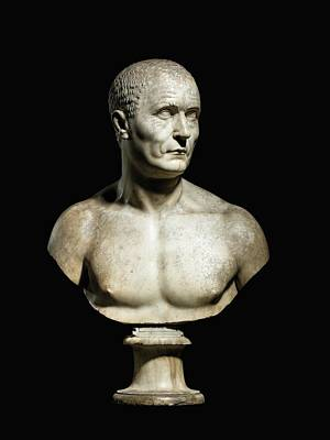 Sculpture - Bust Of A Man by Bartolomeo Cavaceppi