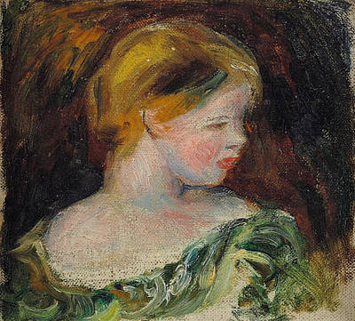 Antlers - Bust of a Young Woman by Pierre Auguste Renoir