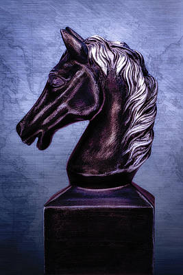 Stallion Wall Art - Photograph - Bust Of The Black Knight by Tom Mc Nemar