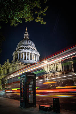 Photograph - Busy Traffic At St Paul's  by Framing Places