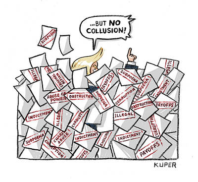 Drawing - But No Collusion by Peter Kuper