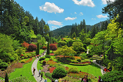 Photograph - Butchart Gardens, Victoria, British by Mike Grandmaison