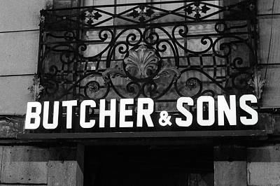 Photograph - Butcher And Sons Bw by Tina Ernspiker