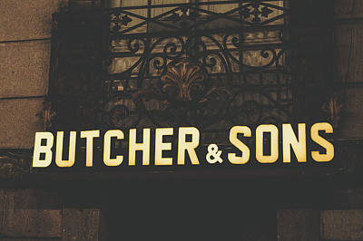 Photograph - Butcher And Sons Vintage by Tina Ernspiker