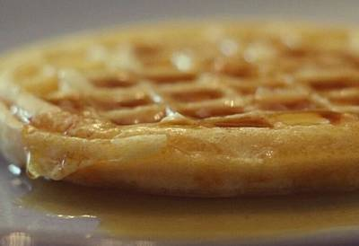 Photograph - Buttered Waffle With Maple Syrup by The Art Of Marilyn Ridoutt-Greene