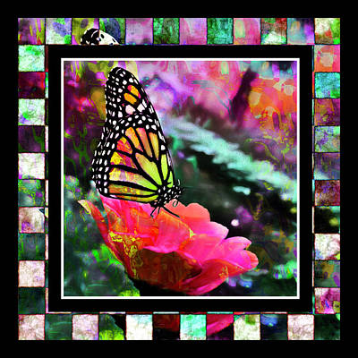 Colorful Digital Art - Butterflies Are Free by Cindy Greenstein