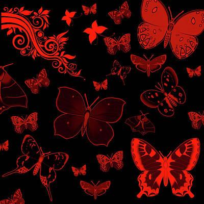 Wall Art - Digital Art - Butterflies by Dene Brock