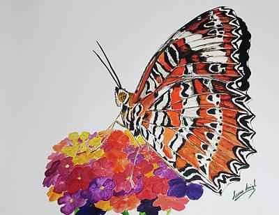 Painting - Butterfly 1 by Seenu Singh