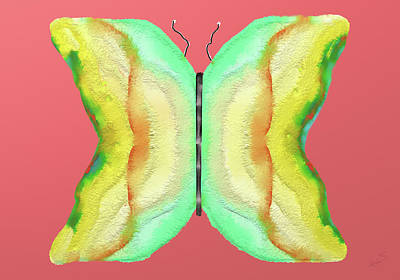 Digital Art - Butterfly 2 by SC Heffner