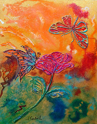 Painting - Butterfly Beauties by Laura Gabel