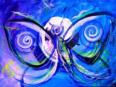 Painting - Butterfly Blue Violet by J Vincent Scarpace