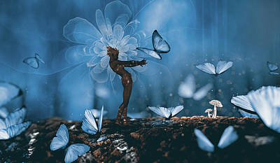 Fantasy Royalty-Free and Rights-Managed Images - Butterfly catcher by Mihaela Pater