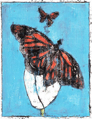 Butterfly Garden Summer 1 Art Print