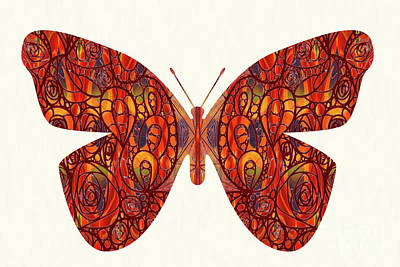 Digital Art - Butterfly Illustration Art - Complex Realities - Omaste Witkowski by Omaste Witkowski
