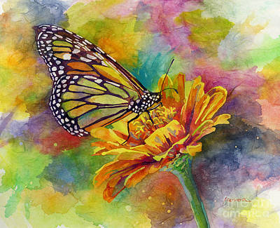 Colorful People Abstract - Butterfly Kiss by Hailey E Herrera