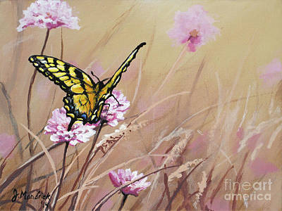 Painting - Butterfly Meadow - Part 1 by Joe Mandrick