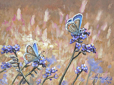Painting - Butterfly Meadow - Part 3 by Joe Mandrick