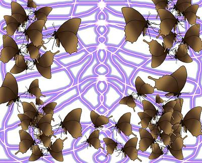 Master Wall Art - Digital Art - Butterfly Patterns 14 by Joan Stratton