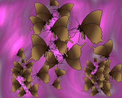 Master Wall Art - Digital Art - Butterfly Patterns 17 by Joan Stratton