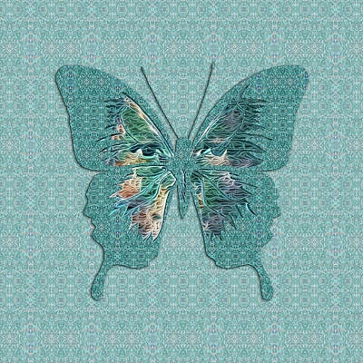 Digital Art - Butterfly Variation 00 by Diego Taborda