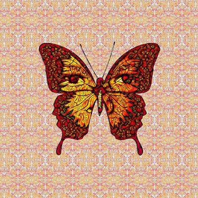 Digital Art - Butterfly Variation 02 by Diego Taborda