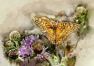 Animals Paintings - Butterfly WIngs by Elizabeth Waitinas