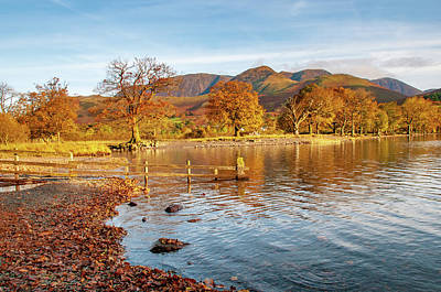 Mixed Media - Buttermere Autumn by Smart Aviation