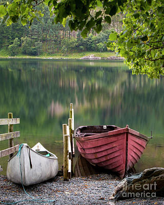 Photograph - Buttermere Boats by Brian Jannsen