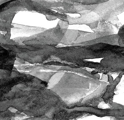 Music Paintings - BW Abstract - 6 by Susan Porter