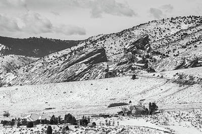 Photograph - Bw Red Rocks by Dan Urban