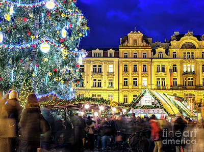 Photograph - By The Christmas Tree In Prague by John Rizzuto