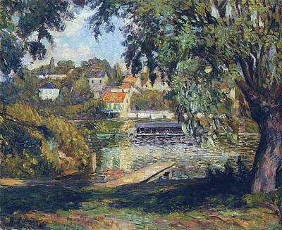 Movies Star Paintings - By the River, 1900 by Henri Lebasque