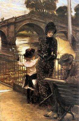 Painting - By The Thames At Richmond by James Jacques Joseph Tissot