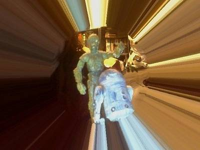 Venice Beach Bungalow - C-3PO and R2-D2 in Vortex by David Lovins