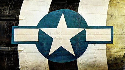Photograph - C-47 Dakota Ww2 Usaf Insignia - Short by Weston Westmoreland