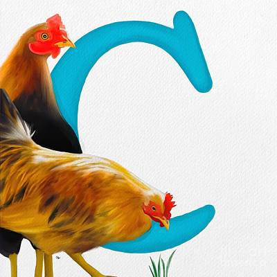 Painting - C Is For Chickens by Tammy Lee Bradley