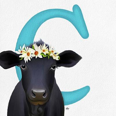 Painting - C Is For Cow by Tammy Lee Bradley