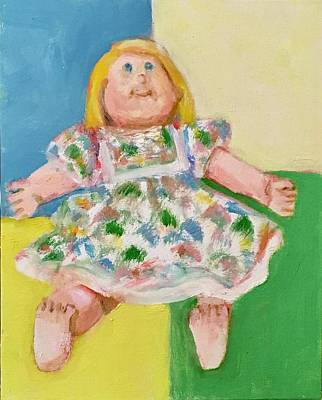 Painting - Cabbage Patch Doll Forandy by Bonnie Wilber