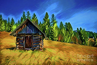 Painting - Cabin A18-164 by Ray Shrewsberry