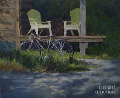 Painting - Cabin Chairs by Mary Hubley