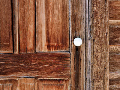Photograph - Cabin Door by Leland D Howard