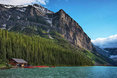 Photograph - Cabin House At Lake Louise In Banff National Park Canada by Dave Dilli
