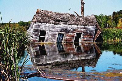 Photograph - Cabin Sinking by David Matthews
