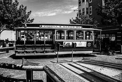Art Print featuring the photograph Cable Car Turn Around by Stuart Manning