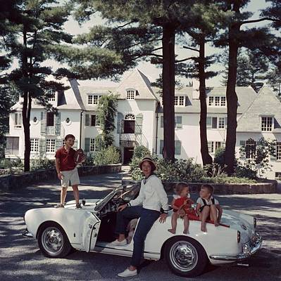 Mode Of Transport Photograph - Cabot Family by Slim Aarons