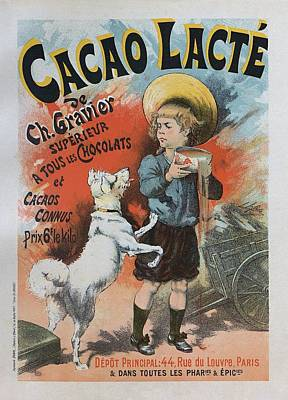 Painting - Cacao Lacte, 1893 French Vintage Poster by Lucien Lefevre