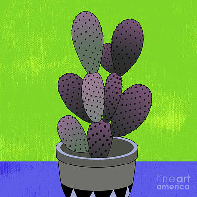 Royalty-Free and Rights-Managed Images - Cactus Art03_Pot#6 by Bobbi Freelance