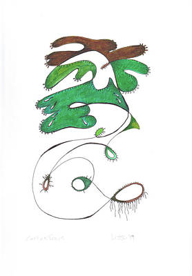 Drawing - Cactus Tears by Lissa Banks