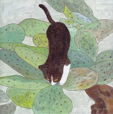 Painting - Cactus Tree by Kazumi Whitemoon
