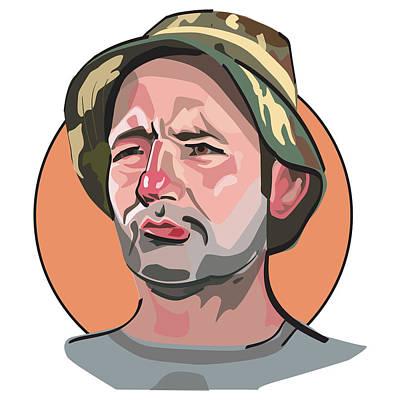 Digital Art - Caddyshack Bill Murray by Matt Hood
